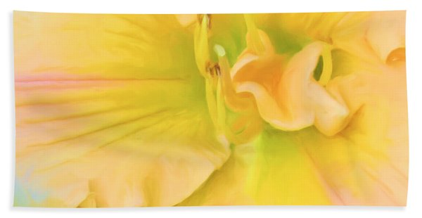 Peach Lily Hand Towel