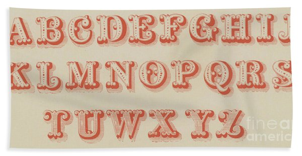 Pearl Letter Red Font Hand Towel