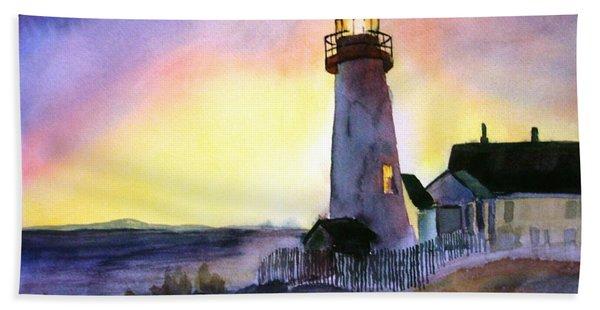 Pemaquid Point Lighthouse Maine Hand Towel