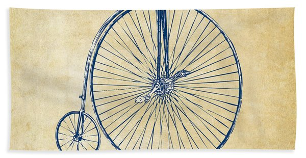 Penny-farthing 1867 High Wheeler Bicycle Vintage Bath Towel