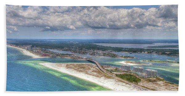 Perdido Pass Aerial 3029 Bath Towel