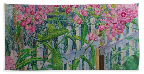 Perky Pink Phlox In A Dahlonega Garden Hand Towel