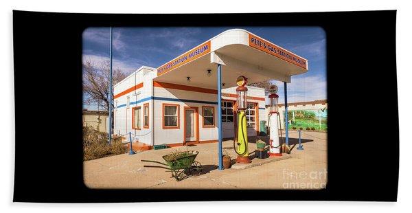 Pete's Gas Station Bath Towel