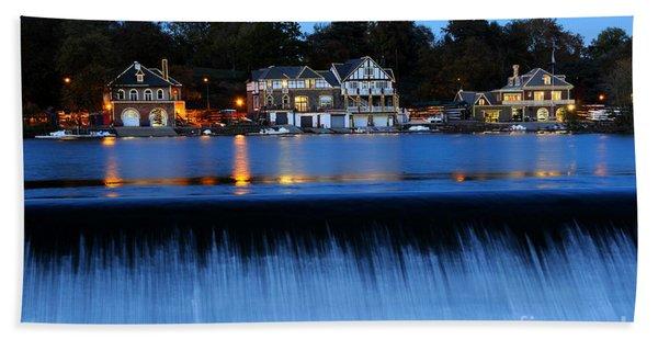 Philadelphia Boathouse Row At Twilight Hand Towel