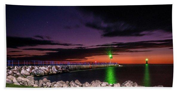 Pier And Lighthouse Bath Towel