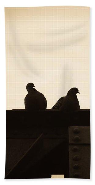 Pigeon And Steel Bath Towel