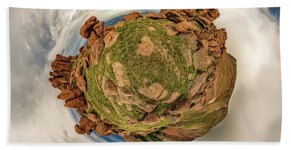 Pikes Peak Tiny Planet #2 Bath Towel