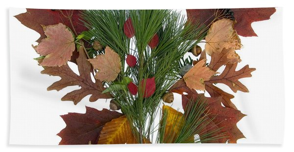 Pine And Leaf Bouquet Hand Towel