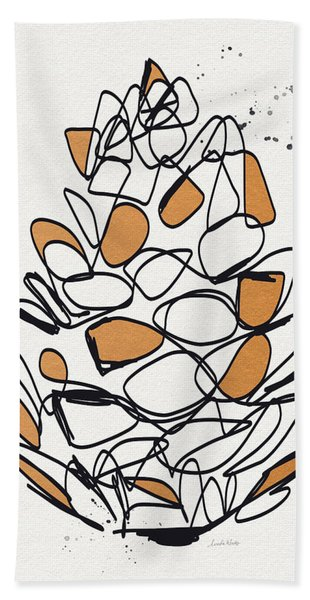 Pine Cone- Art By Linda Woods Bath Towel