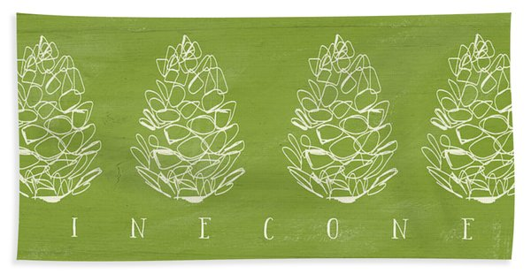 Pinecones-art By Linda Woods Bath Towel