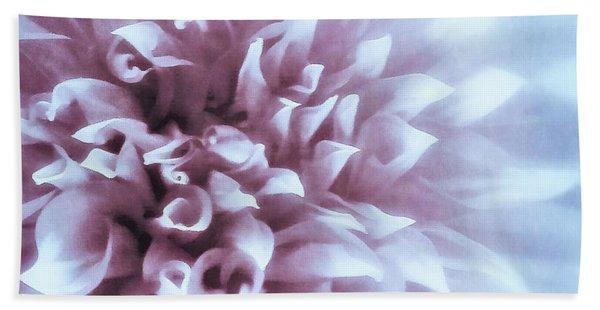 Pink And Blue Dahlia Bath Towel