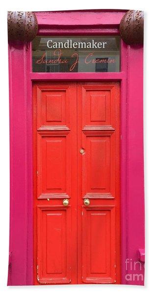 Pink And Orange Door Ireland Bath Towel