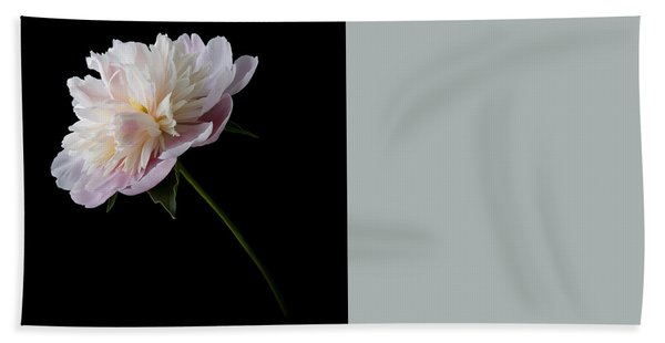 Bath Towel featuring the photograph Pink And White Peony by Patti Deters