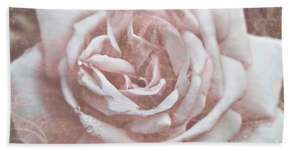 Pink Garden Rose Bath Towel