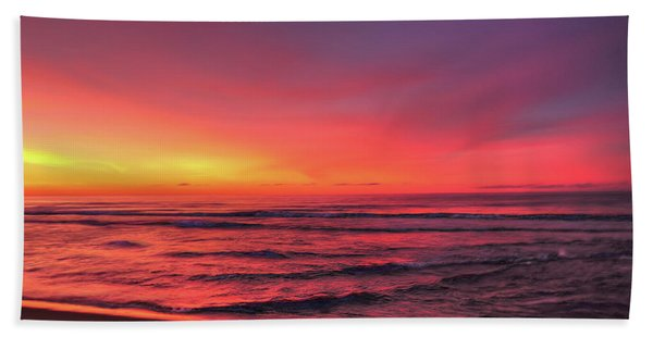 Pink Lbi Sunrise Bath Towel