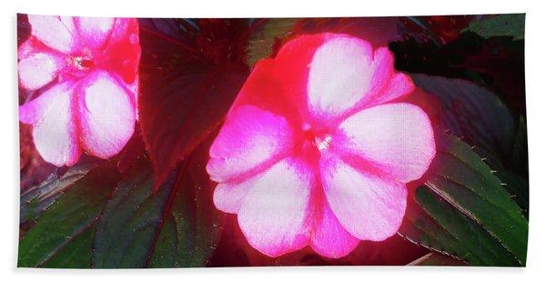 Pink Red Glow Bath Towel