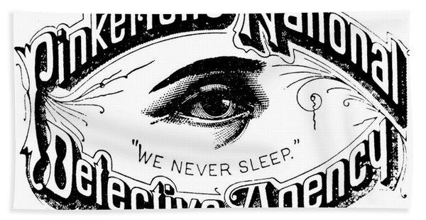 Pinkerton's National Detective Agency, We Never Sleep Hand Towel