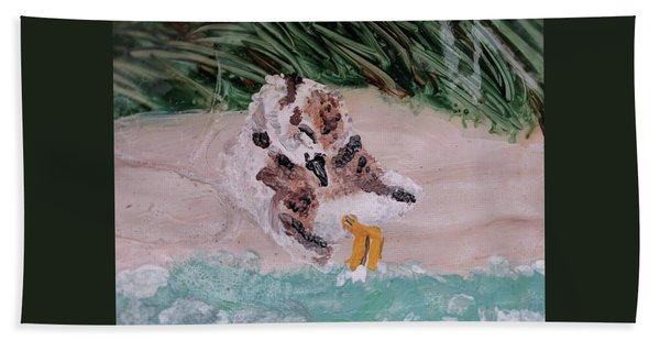 Piping Plover Chick 2 Hand Towel