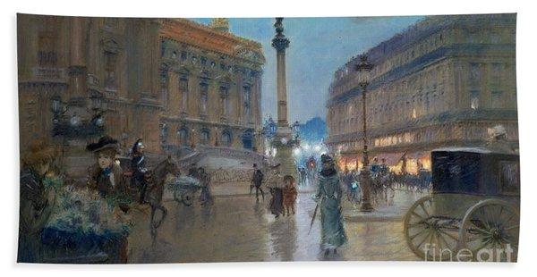 Place De L Opera In Paris Bath Towel