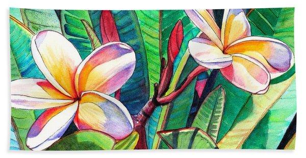 Plumeria Garden Hand Towel