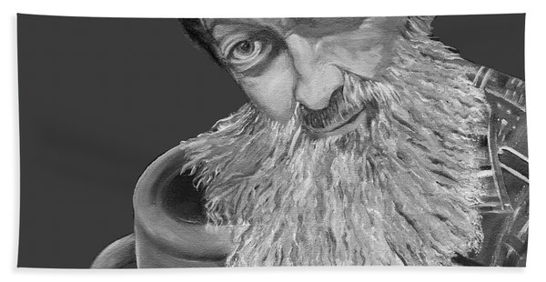 Popcorn Sutton Black And White Transparent - T-shirts Hand Towel
