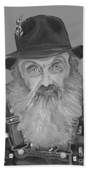 Popcorn Sutton Moonshiner Bust - T-shirt Transparent B And  W Hand Towel