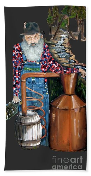Popcorn Sutton Moonshiner -t-shirt Transparrent Hand Towel
