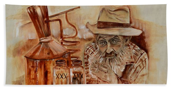 Popcorn Sutton - Waiting On Shine Hand Towel