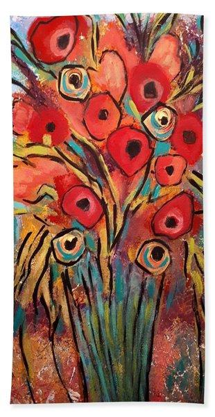 Poppy Fest Hand Towel
