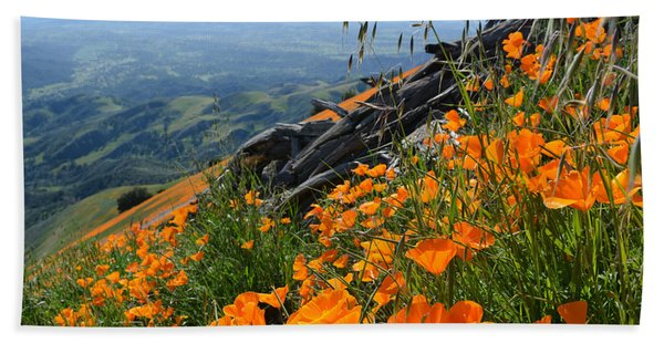 Poppy Mountain  Hand Towel