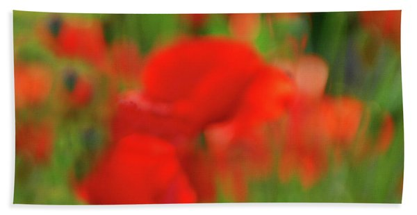 Poppy Scape Hand Towel