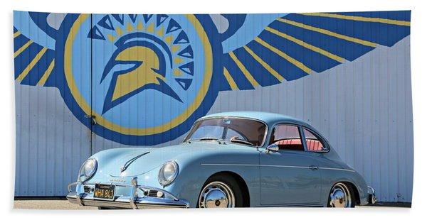 Porsche 356a True Blue Bath Towel
