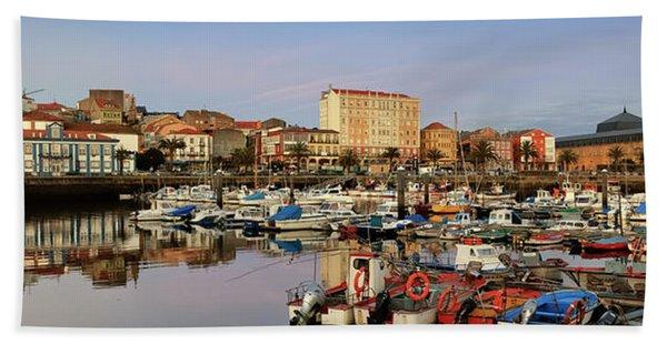 Port Of Ferrol Galicia Spain Hand Towel