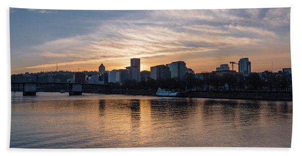 Portland Sunset Hand Towel