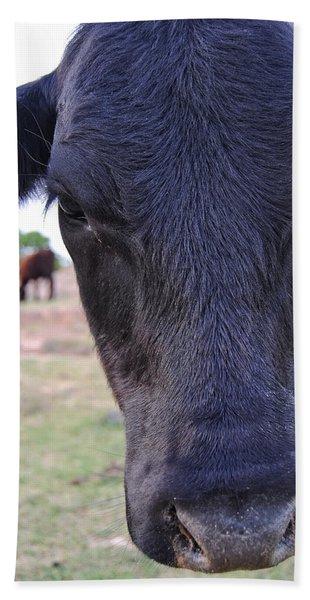Portrait Of A Cow Hand Towel