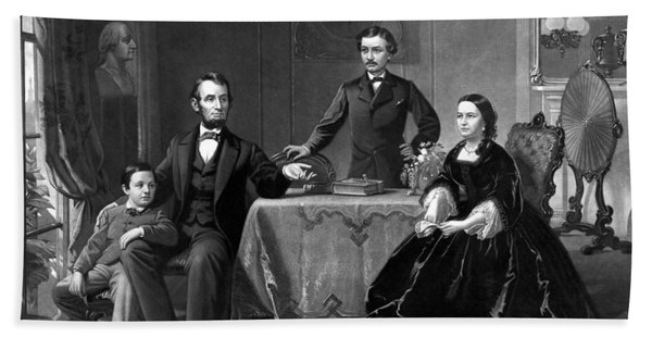 President Lincoln And His Family  Bath Towel