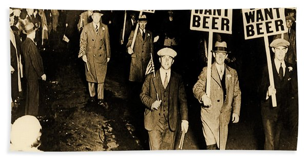 Protest Against Prohibition, New Jersey, 1931 Bath Towel