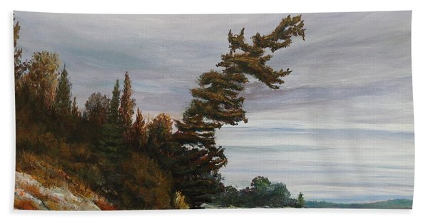 Hand Towel featuring the painting Ptarmigan Bay by Ruth Kamenev