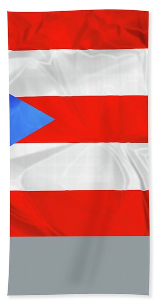 Puerto Rico Flag Bath Towel