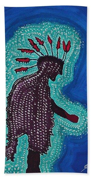 Punk Shaman Original Painting Hand Towel