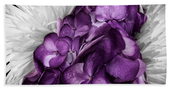 Purple In The White Hand Towel