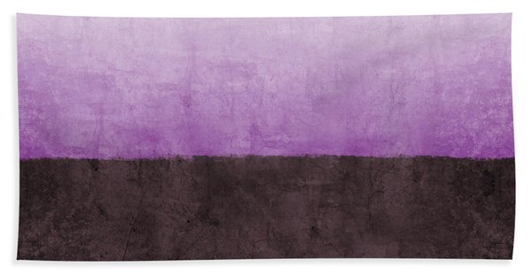 Purple On The Horizon- Art By Linda Woods Hand Towel