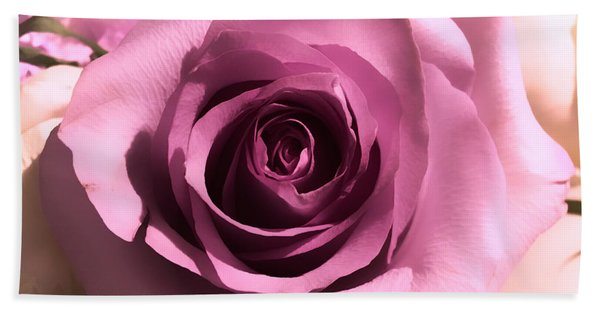 Purple Rose Bath Towel