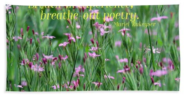 Purple Wildflower Of Poets Bath Towel
