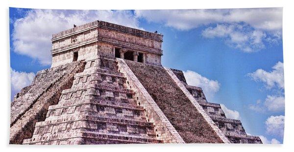 Pyramid Of Kukulcan At Chichen Itza Bath Towel