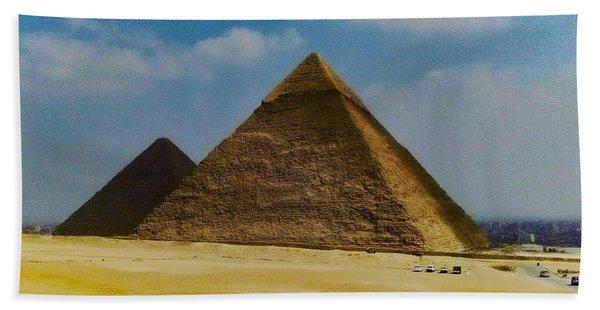 Pyramids, Cairo, Egypt Bath Towel
