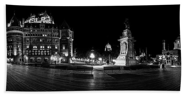 Quebec City Boardwalk At Night Bath Towel