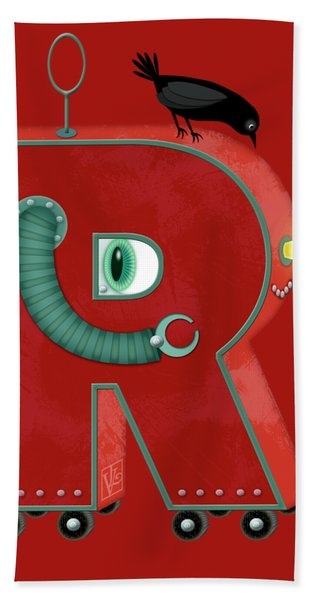 R Is For Robot Hand Towel