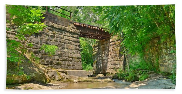 Railroad Tracks At Buttermilk/homewood Falls Hand Towel