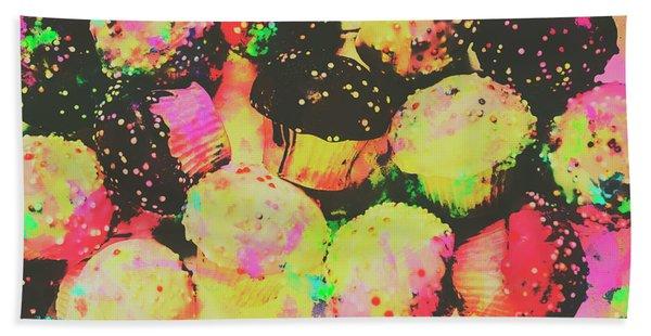 Rainbow Color Cupcakes Bath Towel